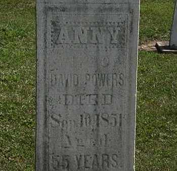 POWERS, ANNY - Lorain County, Ohio | ANNY POWERS - Ohio Gravestone Photos