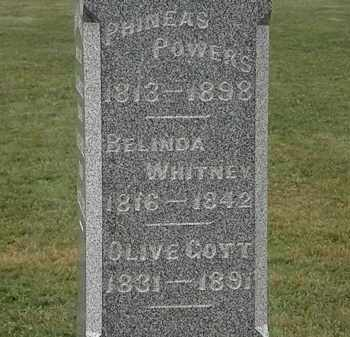 WHITNEY POWERS, BELINDA - Lorain County, Ohio | BELINDA WHITNEY POWERS - Ohio Gravestone Photos