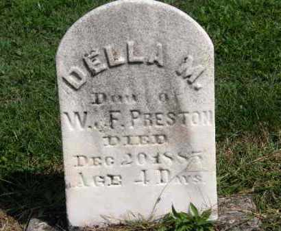 PRESTON, DELLA M. - Lorain County, Ohio | DELLA M. PRESTON - Ohio Gravestone Photos