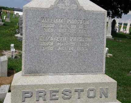 PRESTON, ELIZABETH - Lorain County, Ohio | ELIZABETH PRESTON - Ohio Gravestone Photos