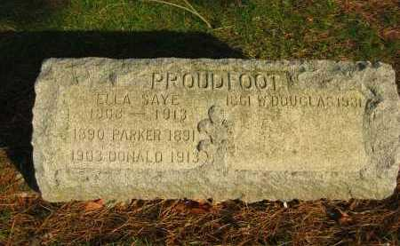 PROUDFOOT, PARKER - Lorain County, Ohio | PARKER PROUDFOOT - Ohio Gravestone Photos