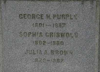 GRISWOLD PURPLE, SOPHIA - Lorain County, Ohio | SOPHIA GRISWOLD PURPLE - Ohio Gravestone Photos