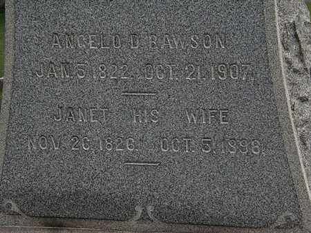 RAWSON, JANET - Lorain County, Ohio | JANET RAWSON - Ohio Gravestone Photos