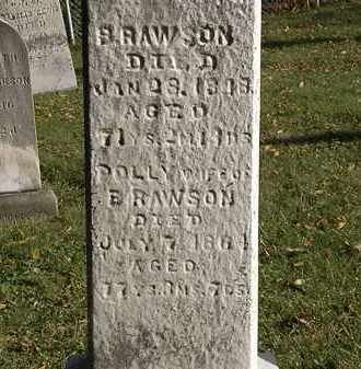RAWSON, POLLY - Lorain County, Ohio | POLLY RAWSON - Ohio Gravestone Photos