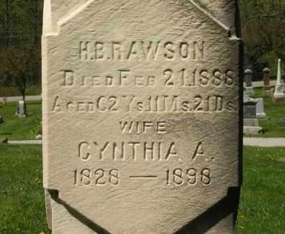 RAWSON, CYNTHIA A. - Lorain County, Ohio | CYNTHIA A. RAWSON - Ohio Gravestone Photos