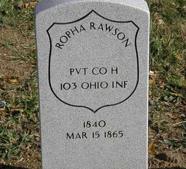 RAWSON, ROPHA - Lorain County, Ohio | ROPHA RAWSON - Ohio Gravestone Photos