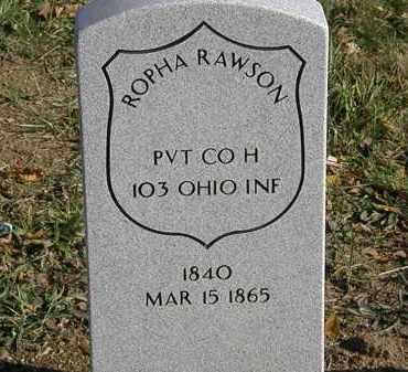 RAWSON, ROPHA - Lorain County, Ohio | ROPHA RAWSON - Ohio Gravestone Photos