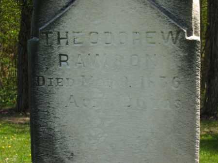 RAWSON, THEODORE W. - Lorain County, Ohio | THEODORE W. RAWSON - Ohio Gravestone Photos