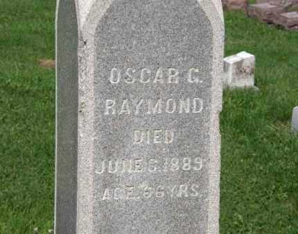 RAYMOND, OSCAR G. - Lorain County, Ohio | OSCAR G. RAYMOND - Ohio Gravestone Photos
