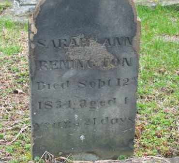 REMINGTON, SARAH ANN - Lorain County, Ohio | SARAH ANN REMINGTON - Ohio Gravestone Photos
