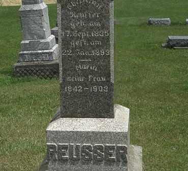 REUSSER, CHRISTIAN - Lorain County, Ohio | CHRISTIAN REUSSER - Ohio Gravestone Photos