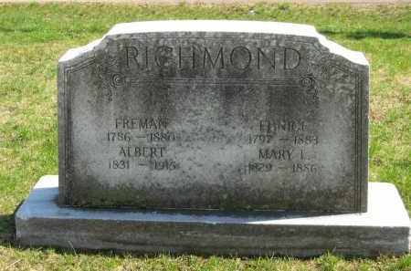 RICHMOND, ALBERT - Lorain County, Ohio | ALBERT RICHMOND - Ohio Gravestone Photos