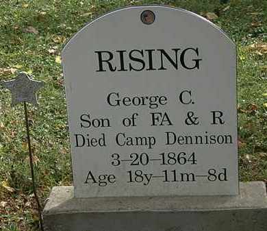 RISING, F.A. - Lorain County, Ohio | F.A. RISING - Ohio Gravestone Photos