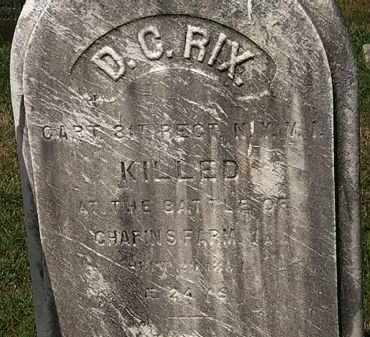 RIX, D.C. - Lorain County, Ohio | D.C. RIX - Ohio Gravestone Photos