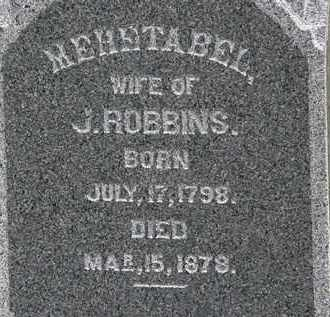 ROBBINS, MEHETABEL - Lorain County, Ohio | MEHETABEL ROBBINS - Ohio Gravestone Photos