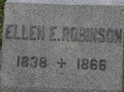 ROBINSON, ELLEN E. - Lorain County, Ohio | ELLEN E. ROBINSON - Ohio Gravestone Photos