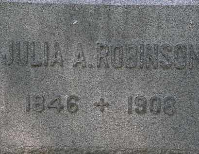 ROBINSON, JULIA A. - Lorain County, Ohio | JULIA A. ROBINSON - Ohio Gravestone Photos