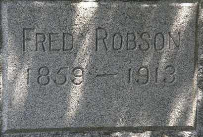 ROBSON, FRED - Lorain County, Ohio | FRED ROBSON - Ohio Gravestone Photos