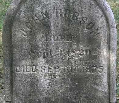 ROBSON, JOHN - Lorain County, Ohio | JOHN ROBSON - Ohio Gravestone Photos