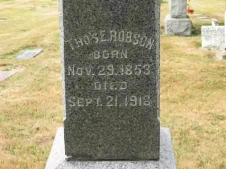ROBSON, THO'S E. - Lorain County, Ohio | THO'S E. ROBSON - Ohio Gravestone Photos