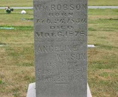ROBSON, WM. - Lorain County, Ohio | WM. ROBSON - Ohio Gravestone Photos