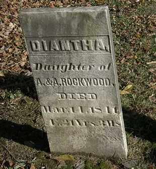 ROCKWOOD, DIANTHA - Lorain County, Ohio | DIANTHA ROCKWOOD - Ohio Gravestone Photos