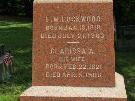 ROCKWOOD, CLARISSA A. - Lorain County, Ohio | CLARISSA A. ROCKWOOD - Ohio Gravestone Photos