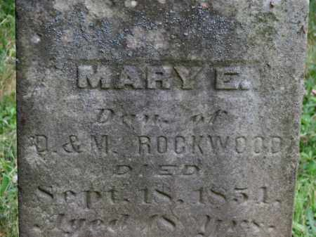 ROCKWOOD, MARY E. - Lorain County, Ohio | MARY E. ROCKWOOD - Ohio Gravestone Photos