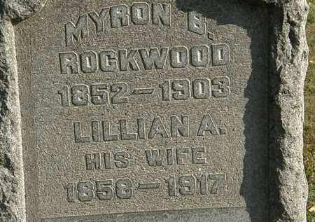 ROCKWOOD, LILLIAN A. - Lorain County, Ohio | LILLIAN A. ROCKWOOD - Ohio Gravestone Photos