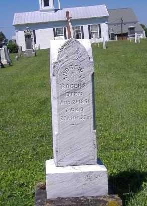 ROGERS, ANDREW J. - Lorain County, Ohio | ANDREW J. ROGERS - Ohio Gravestone Photos