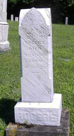 ROGERS, GEORGE - Lorain County, Ohio | GEORGE ROGERS - Ohio Gravestone Photos