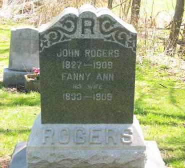 ROGERS, FANNY ANN - Lorain County, Ohio | FANNY ANN ROGERS - Ohio Gravestone Photos