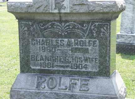 ROLFE, BLANCHE G. - Lorain County, Ohio | BLANCHE G. ROLFE - Ohio Gravestone Photos
