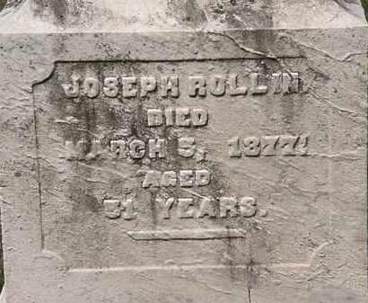 ROLLIN, JOESEPH - Lorain County, Ohio | JOESEPH ROLLIN - Ohio Gravestone Photos