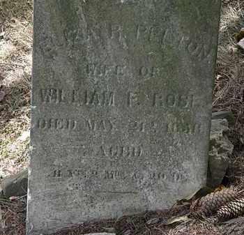 PELTON ROSE, ELIZA R. - Lorain County, Ohio | ELIZA R. PELTON ROSE - Ohio Gravestone Photos