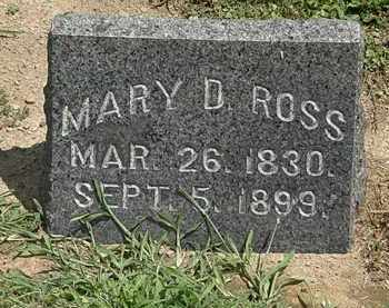 ROSS, MARY D. - Lorain County, Ohio | MARY D. ROSS - Ohio Gravestone Photos
