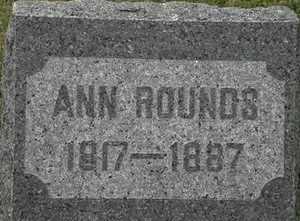 ROUNDS, ANN - Lorain County, Ohio | ANN ROUNDS - Ohio Gravestone Photos