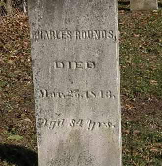 ROUNDS, CHARLES - Lorain County, Ohio | CHARLES ROUNDS - Ohio Gravestone Photos