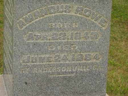 ROWE, AMANDUS - Lorain County, Ohio | AMANDUS ROWE - Ohio Gravestone Photos
