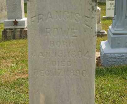 ROWE, FRANCIS E - Lorain County, Ohio | FRANCIS E ROWE - Ohio Gravestone Photos