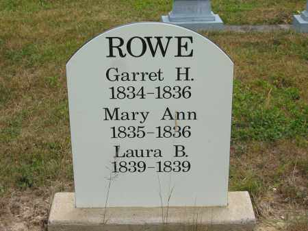 ROWE, GARRET H. - Lorain County, Ohio | GARRET H. ROWE - Ohio Gravestone Photos