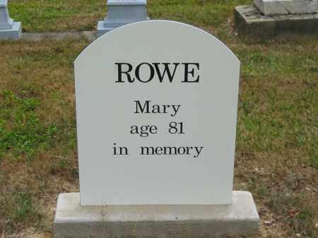 ROWE, MARY - Lorain County, Ohio | MARY ROWE - Ohio Gravestone Photos