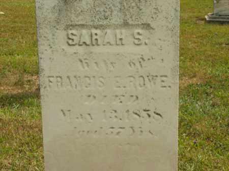 ROWE, SARAH S. - Lorain County, Ohio | SARAH S. ROWE - Ohio Gravestone Photos