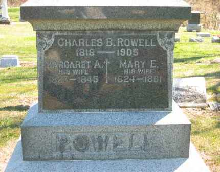 ROWELL, MARY E. - Lorain County, Ohio | MARY E. ROWELL - Ohio Gravestone Photos