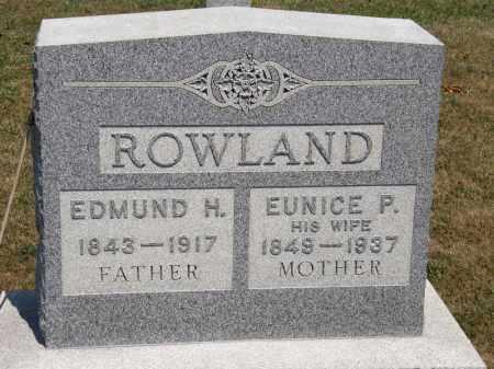 ROWLAND, EUNICE P. - Lorain County, Ohio | EUNICE P. ROWLAND - Ohio Gravestone Photos
