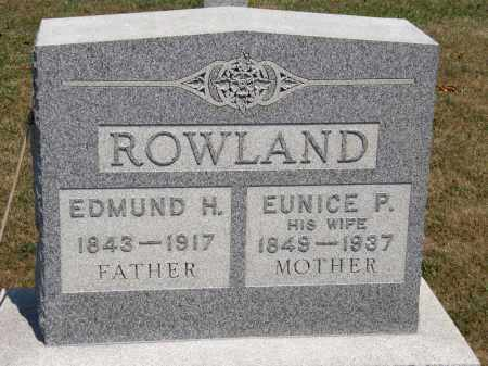 ROWLAND, EDMUND H. - Lorain County, Ohio | EDMUND H. ROWLAND - Ohio Gravestone Photos