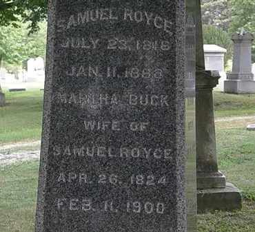 BUCK ROYCE, MARTHA - Lorain County, Ohio | MARTHA BUCK ROYCE - Ohio Gravestone Photos