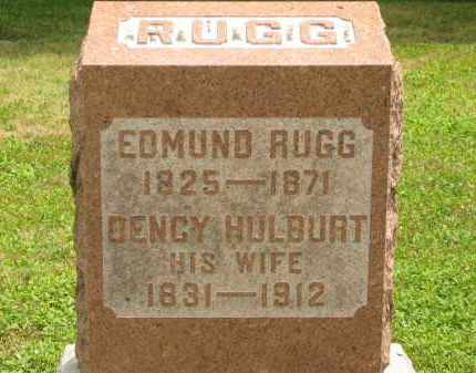 HULBURT RUGG, DENCY - Lorain County, Ohio | DENCY HULBURT RUGG - Ohio Gravestone Photos