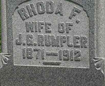 RUMPLER, J.G. - Lorain County, Ohio | J.G. RUMPLER - Ohio Gravestone Photos