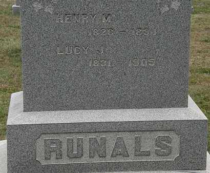 RUNALS, LUCY J. - Lorain County, Ohio | LUCY J. RUNALS - Ohio Gravestone Photos